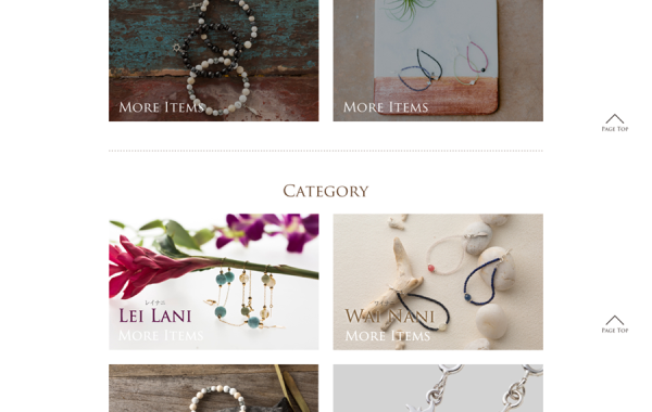Hawaiian Jewelry Brand Web Design